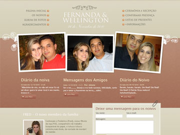 Site de Casamento &#8211; Fernanda e Wellington