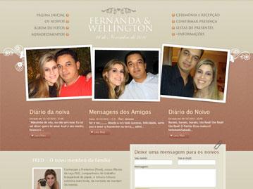 Site de Casamento – Fernanda e Wellington