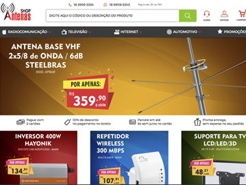 Shop Antenas – Antenas, Rádios e acessórios para Radioamador